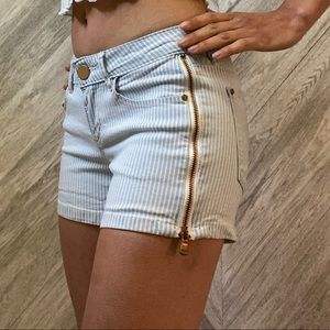 Zipper Detail Shorts